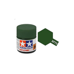 Tamiya #81773 - Acrylic Mini Paint Xf-73 Dark Green /JGSDF 10Ml Bottle