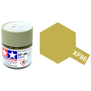 Tamiya #81788 - Acrylic Mini XF-88 Dark yellow 2 10mL Bottle
