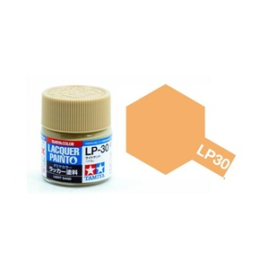 Tamiya #82130 LP-30 Light Sand 10ml Flat Bottle Lacquer Paint