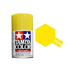 Tamiya TS-16 Yellow Spray Lacquer Paint #85016