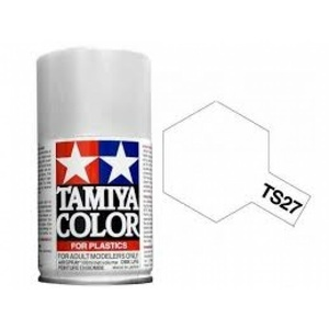 Tamiya TS-27 Matt White Spray Lacquer Paint #85027
