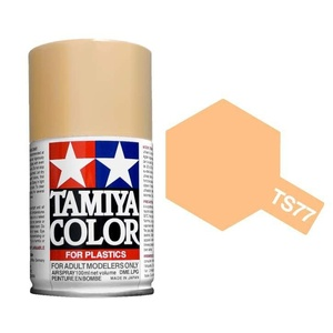 Tamiya TS-77 Flat Flesh Lacquer 100ml Spray Lacquer Paint #85077
