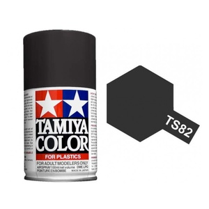 Tamiya TS-82 Rubber Black Spray Lacquer Paint 100ml #85082
