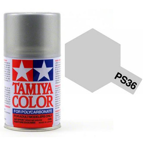 Tamiya PS-36 Translucent Silver Polycarbanate Spray Paint 100ml #86036
