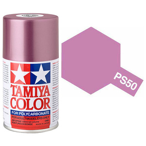 Tamiya PS-50 Sparkling Pink Polycarbanate Spray Paint #86050
