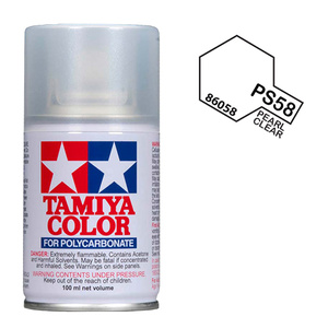 Tamiya PS-58 Pearl Clear Polycarbanate Spray Paint 100ml #86058