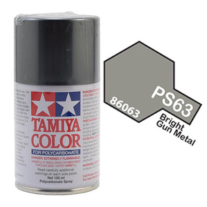 Tamiya PS-63 Bright Gunmetal Polycarbanate Spray Paint #86063