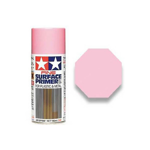 Tamiya #87146 - Fine Surface Primer Large L Pink - 180ml Spray Can