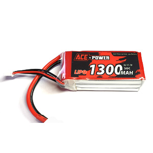 ACE Power 11.1v 1300mah Lipo 30C Battery XT60 Plug