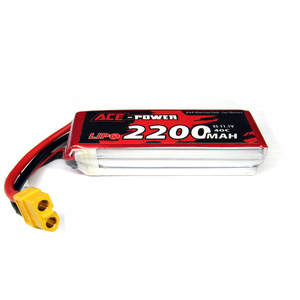 Ace Power 11.1V 2200mah 40C Lipo Battery XT60 Plug