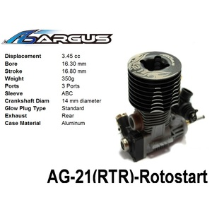 Argus .21 3P Off-Road RTR Engine Rotostart Version