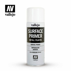VALLEJO Aerosol Spray Paint White Primer #28.010