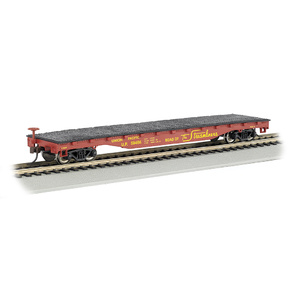 Bachmann HO Scale 52′ Flat Car Union Pacific - Silver Series Rolling Stock #17303