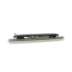 Bachmann HO Scale 52′ Flat Car Erie Lackawanna - Silver Series Rolling Stock #17304