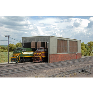Bachmann HO Scale Scene Scapes - Double Stall Shed #35116