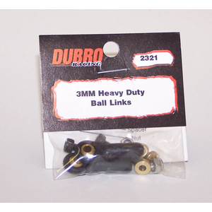 3mm HEAVY DUTY BALL LINKS (2pc) #DUBRO2321