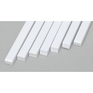 "Evergreen 176 Styrene Strips .100x.125""  (2.5 x 3.2mm) Qty 7"