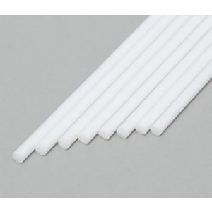 "Evergreen 222 Styrene Round Rod 1/16 .062""  (1.6mm) Qty 8"