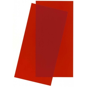 "Evergreen 9901 Red Transparent Plastic Sheet 6 x 12 x .010"" (0.25mm) Qty 2"