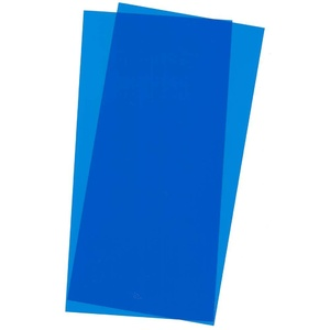 Evergreen 9902 Blue Transparent Plastic Sheet 6 x 12 x .010 Qty 2