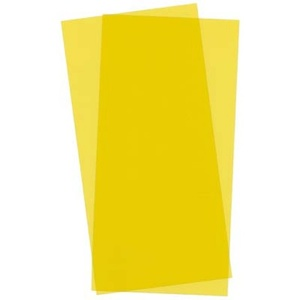 Evergreen 9904 Yellow Transparent Plastic Sheet Qty 2