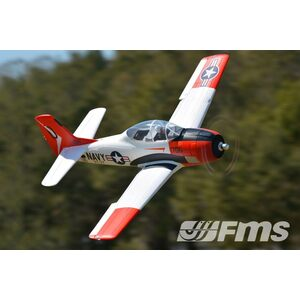 "FMS 1400MM (55.1"") T-28D TROJAN V4 RED-PNP"