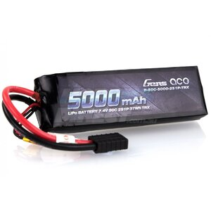 Gens ace 5000mAh 7.4V 50C 2S1P Lipo with Deans Plug