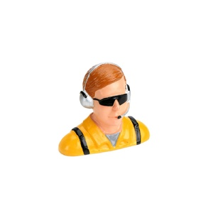 1/4 Pilot, Civilian with Headset & Mic, Sunglasses (HAN9123)