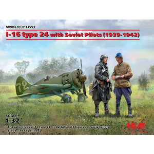 ICM 32007 I-16 Type 24 With Soviet Pilots (1939-1942) 1/35 #32007