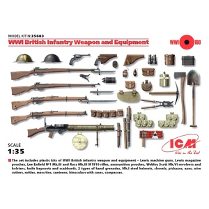 ICM 35683 WWI British Infantry Weapon And Equipment Plastic Model Kit 1/35