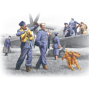ICM 48081 RAF Pilots and Ground personnel (1939-1945) WWII, 1/48 Scale #48081