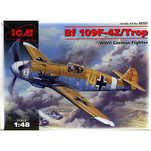 ICM 48105 - BF 109F-4Z/TROP WWII German Fighter Plastic Model Kit 1/48