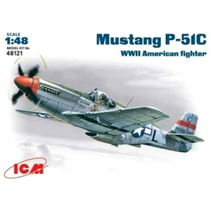 ICM 48121 Mustang P-51C WWII USAF Fighter Scale Plastic Model Kit 1/48