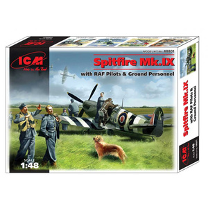 ICM 48801 Spitfire MK.IX, with Raf Pilots & Ground Personnel, 1/48 #48801