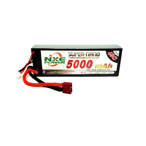 NXE - LiPo, 7.4V Battery, 2S, 5000mAh, 45C, Hard Case, With Deans Plug (RC Car)