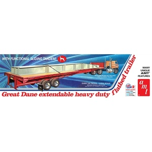 AMT Great Dane Extendable Flat Bed Trailer 1:25 Scale Model Kit