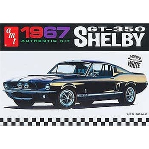 AMT 800 1967 Shelby GT350 Car (White) 1:25 Scale Model