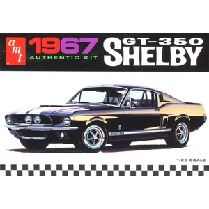 AMT 834 1967 Ford Shelby GT350 Molded Black 1:25 Scale Model Car
