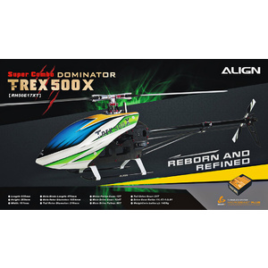 RH50E17XW  T-REX 500X Super Combo RC Helicopter