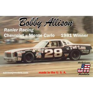 Salvinos J R Bobby Allison No.28 Ranier Racing Chevy Monte Carlo 1981 1:25 Scale Model Kit