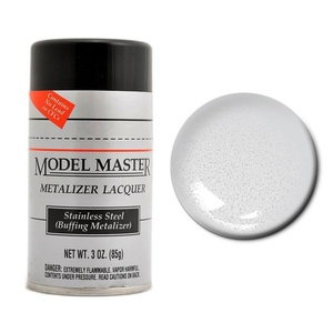 Model Master Spray Stainless Steel Buff Metalizer 3 oz 85 gm #1452