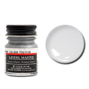 Model Master Chrome Silver Enamel Paint  17178 1/2 oz #1790