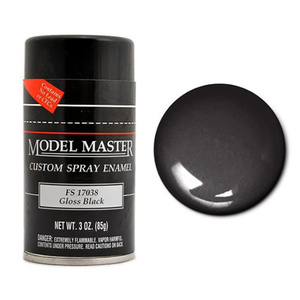 Model Master Spray Gloss Black Paint 17038 3 oz #1947