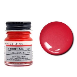 Model Master Ford Engine Red 1/2 oz (14.7mL) Enamel Paint #2733