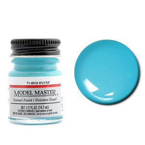 Model Masters Auto 1/2oz Turquoise 1/2 oz (14.7mL) Enamel Paint #2765