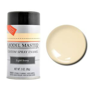 Model Master Spray Light Ivory 3 oz (85 g) Enamel Paint #2909