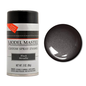 Black Metallic - Gloss 2913 - 3 oz. Sprays Enamel Spray by Model Masters