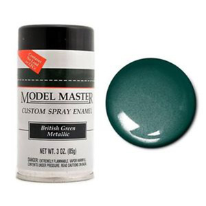 Model Master Spray British Green Metallic 3 oz  (85 g) can Enamel Paint