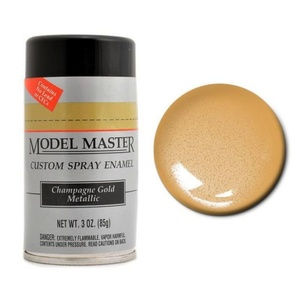 Model Masters Car Spray Champagne Gold Metall 3 oz (85 g) Enamel Paint