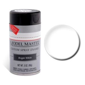 Model Master Spray Bright White 3 oz Enamel Paint #2943